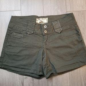 YMI jeans army green shorts